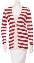 Carolina Herrera Silk Striped Cardigan