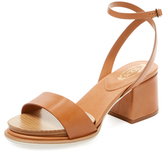 Tod's Leather Block Heel Sandal