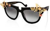 Anna-Karin Karlsson Ladybird Cat-Eye Sunglasses, Black