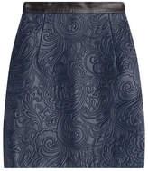 Mary Katrantzou Embossed Leather Mini Skirt