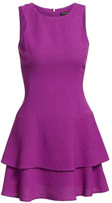 Black Halo Cheryl Mini Ruffle Dress
