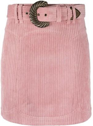 For Love & Lemons Corduroy Belted Skirt