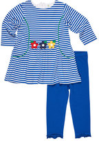 Florence Eiseman Stripe Dress w/ Solid Leggings, Size 6-24 Months