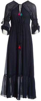 Figue Navy Silk Dress for Women