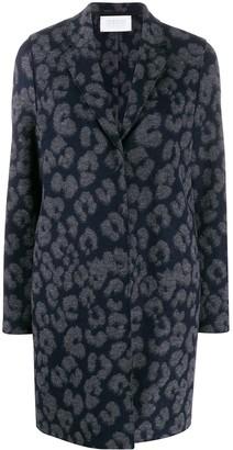 Harris Wharf London Leopard Single Breasted Coat