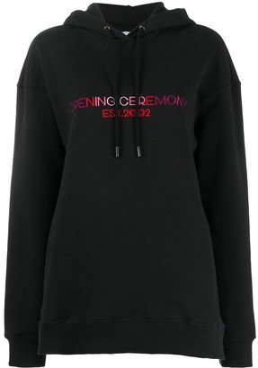 Opening Ceremony Embroidered Text Logo Hoodie