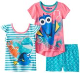 Disney Pixar Finding Dory Girls 4-6x 3-pc. Tee & Shorts Set