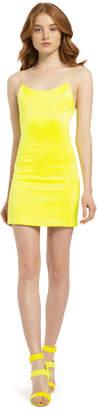 Alice + Olivia Nelle Neon Fitted Mini Dress