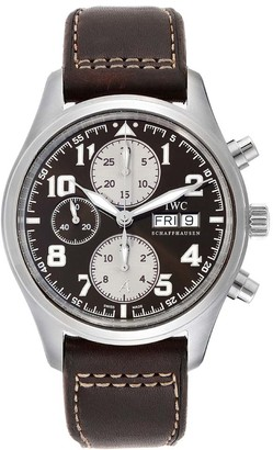 IWC Black Stainless Steel Spitfire Pilot Saint Exupery Limited Edition IW371709 Men's Wristwatch 42 MM