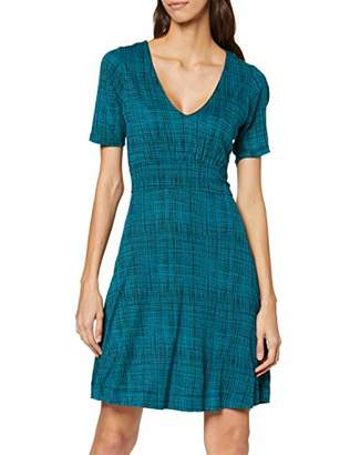 French Connection Women's Texture Check No Information|#254 Short Sleeve Casual Dresses,8 (Manufacturer Size:-8-)