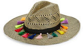 Dorfman Pacific Contrast Tassel-Accented Panama Hat