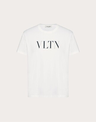 Valentino Vltn T-shirt Man Black Cotton 100% L