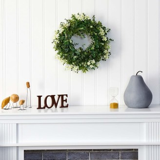 west elm Faux Eucalyptus & Daisy Wreath