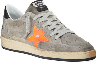 Golden Goose Men's Ball Star Vintage Suede Sneakers