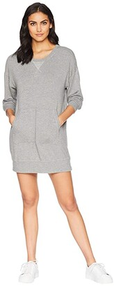 Splendid Dream Slub Courtside Sweatshirt Dress (Heather Grey) Women's Dress