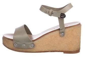 Chanel Leather Platform Sandals