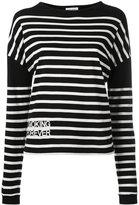 Saint Laurent striped jumper - women - Cotton - L