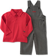Calvin Klein Baby Boys' 2-Pc. Polo Shirt & Overall Set