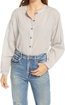Lee Button-Down Cotton Blouse