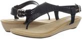 Dr. Scholl's Leisure (Black Leather) - Footwear