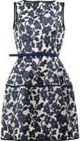 Oscar de la Renta floral pattern dress - women - Silk/Nylon/Polyamide/Metallic Fibre - 6