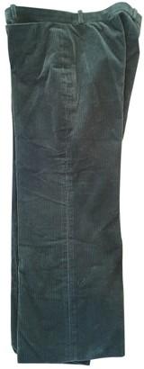 Balenciaga Green Velvet Trousers for Women