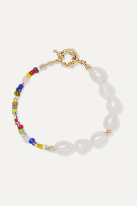 Éliou eliou - Thao Gold-plated, Pearl And Bead Bracelet