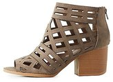 Charlotte Russe Qupid Laser Cut Ankle Booties