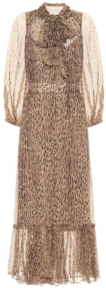 Zimmermann Espionage leopard-print dress
