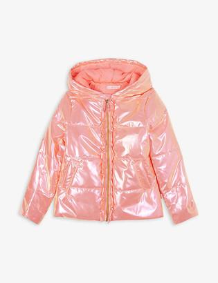 Billieblush Metallic nylon puffer jacket 4-12 years