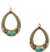 Barse Women's Genuine Turquoise Drop Earring EARR414T01B