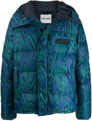 Kenzo psychedelic print puffer jacket