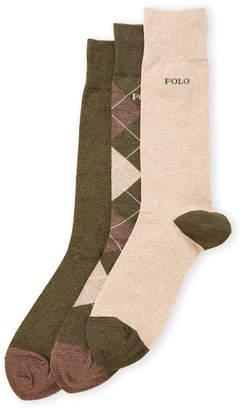 Polo Ralph Lauren 3-Pack Argyle Socks
