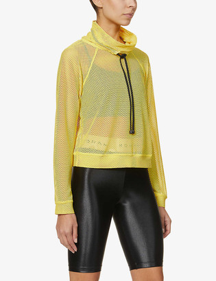 Koral Pump funnel-neck stretch-mesh jumper
