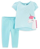 Carter's Child Of Mine By Child of Mine by Unicorn Short Sleeve T-Shirt and Pant Set, 2pc set