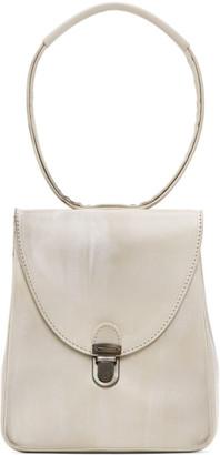 Cherevichkiotvichki Off-White Mini Rectangular Lock Bag