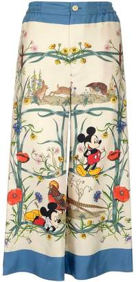 Gucci X Disney Mickey Mouse Printed Pyjama Pants