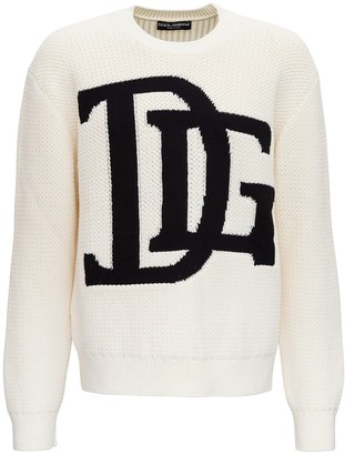 Dolce & Gabbana Knitted Jumper with Monogram Intarsia