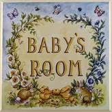 Stupell Industries The Kids Room by Stupell Baby's Room with Bunnies Square Wall Plaque