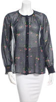 Band Of Outsiders Floral Silk Top