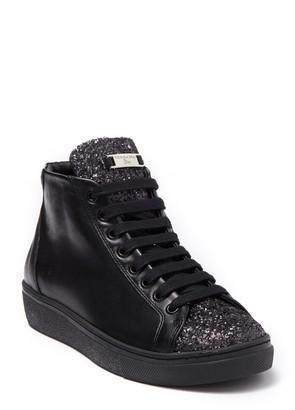 Tosca Cervinia Glitter High Top Leather Sneaker
