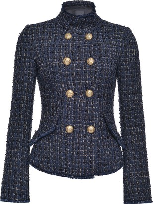 Pinko Boucle Double-Breasted Fitted Jacket