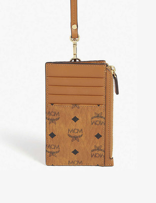 MCM Visetos neck strap card holder