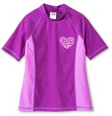 Circo Girls' Swim Rash Guard Violet