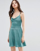 Wal G Cami Dress In Glitter Fabric