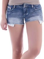 Amethyst Jeans Blue Denim Embellished-Pocket Aubrey Shorts - Plus