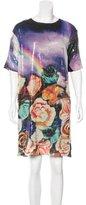 Clover Canyon Sequin Floral Print Dress