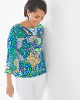 Chico's Medallion Tulip-Sleeve Top