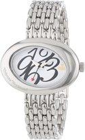 Vivienne Westwood Women's VV014WHSL Ellipse Silver-Tone Watch
