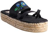 Black Lei Platform Sandal